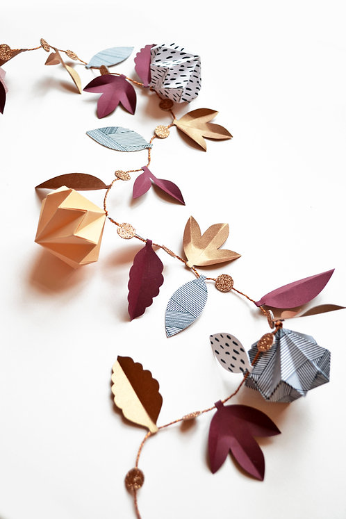 Autumnal origami garland craft kit