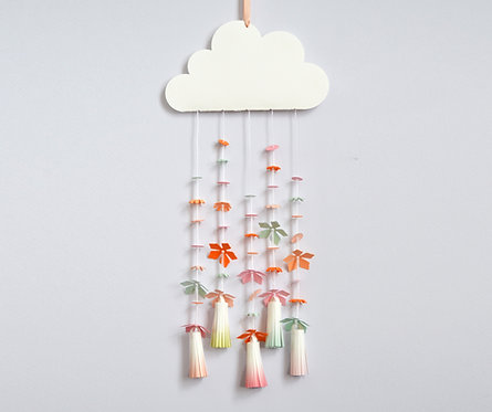 Paper flower cloud craft kit