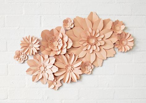 Set of 11 handmade paper flowers