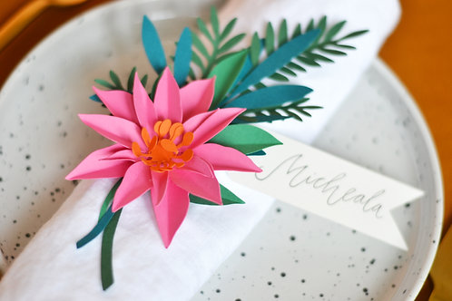 Paper flower place settings craft kit