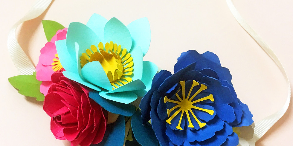Paper flower crown workshop