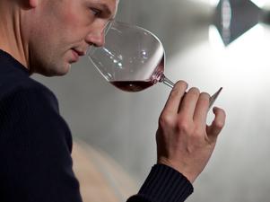 Martin Donatsch bei der Weinprobe