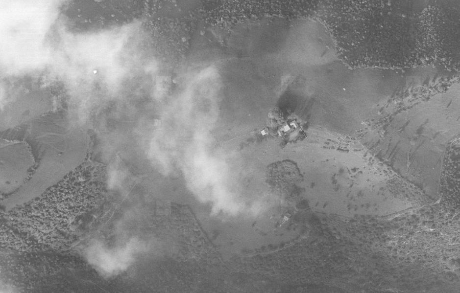 Pianspessa in una foto aerea del 1950.