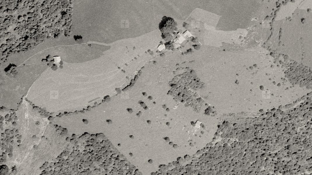 Pianspessa in una foto aerea del 1958.