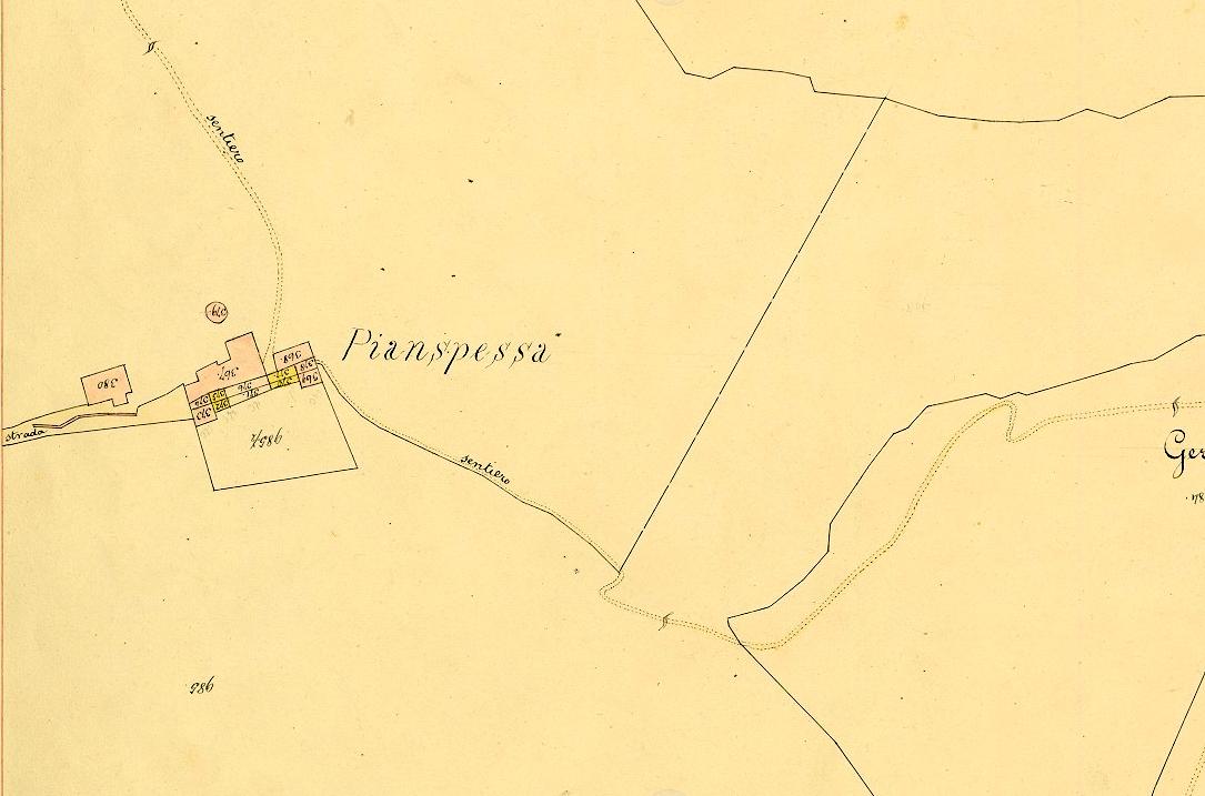 Mappa catastale del 1877