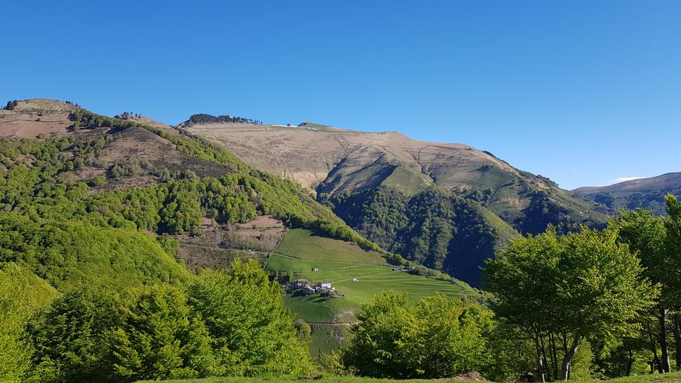 Il paesaggio sul Monte Generoso e la Muggiasca
