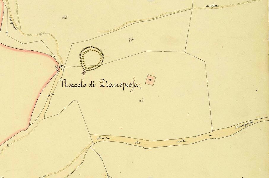 Mappa catastale 1883