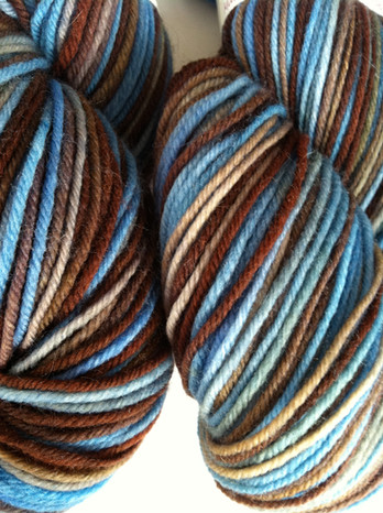 Variegated Colors are Mixed When Re-Skeined
