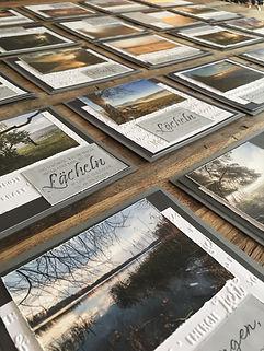 Trauerkarten, Trauerkarte mit Foto, Trauerkrte handgemacht, Trauerkarte mit Holzstempel: Trauern ist ein liebevolles Erinnern, Herzliches Beileid, Aufrichtige Anteilnahme