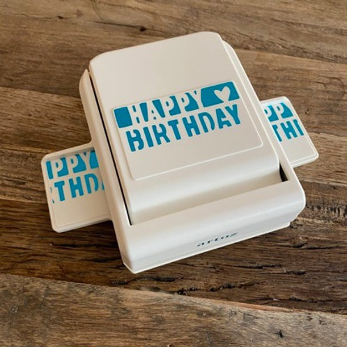 Artoz Bordüre Stanzer Happy Birthday