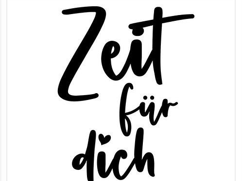 """Holzstempel by Isa """"Zeit für dich""""3x3"""