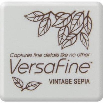 Stempelkissen Versafine Vintage Sepia klein 3x3cm