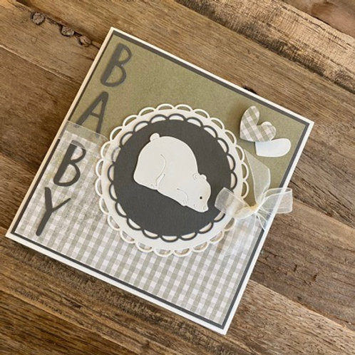 Karte design by ste`s: Baby Bär grün