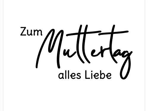 """Holzstempel Design by Susann """"Zum Muttertag alles Liebe"""" 7x3 cm"""