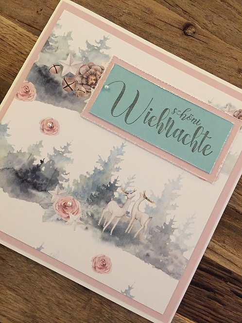 Weihnachtskarte design bei Isa: Schöni Wiehnachte, Reh