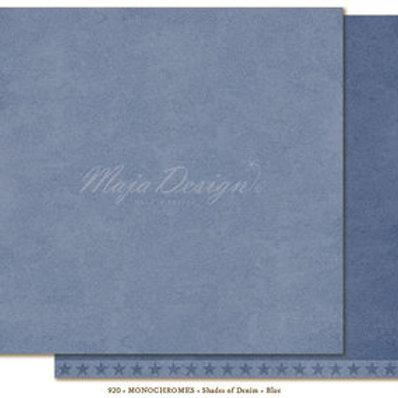 Uni Maja Design Papier - Monochromes - Shades of Denim - Blue
