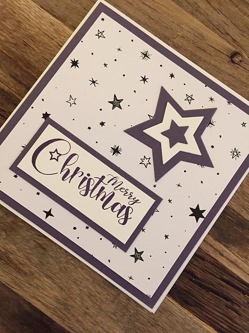 Weihnachtskarte design bei Isa, Merry Christmas, Sterne