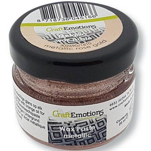 CraftEmotions Wax Paste metallic- Roségold 20 ml