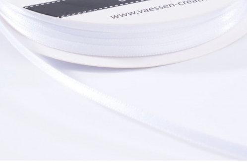 Satinband 6mm Weiss