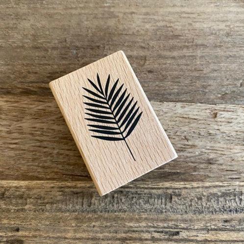 Holzstempel von Artoz Blatt  5x3cm