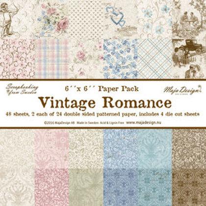 "Maja Design Papier Block 6""x6"" Vintage Romance 48 Blatt"