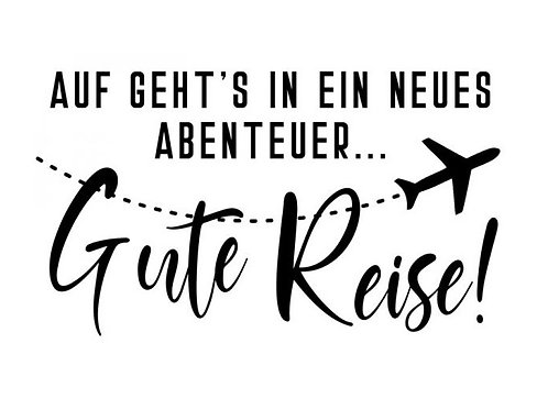 """HolzStempel by Isa """"Gute Reise"""" 5 x 3cm"""