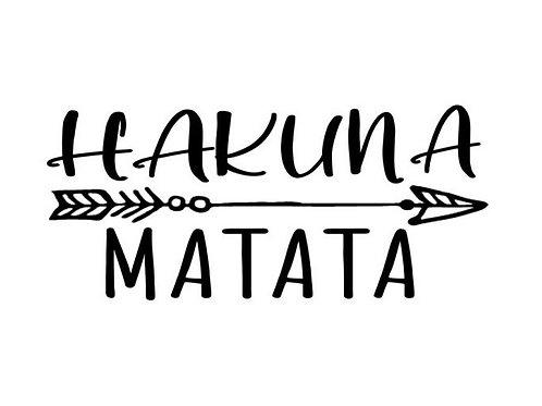 """Holzstempel by Isa """"Hakuna Matata"""" 7 x 3cm"""