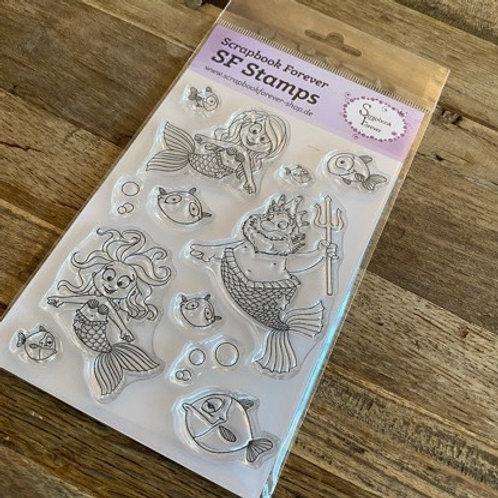 SF Stamps Neptun und seine Meerjungfrauen