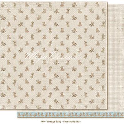 Maja Design Papier -  Vintage Baby - First teddy bear