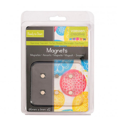 Vaessen Creative • Magnet Ni35 superstrong Ø6x1mm 12pcs