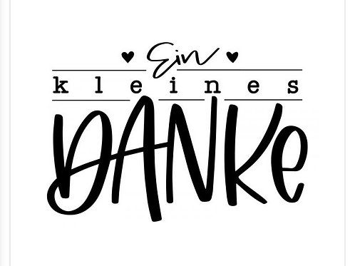 """Holzstempel Design by Marlène """"Ein kleines Danke"""""""