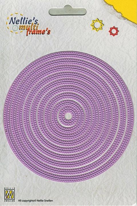 Stanzformen Kreis mit Punkten (9 Teilig)