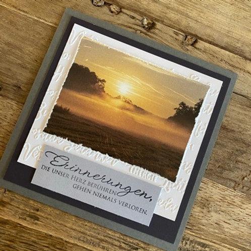 Trauerkarte mit Fotos vo hie! Erinnerungen....