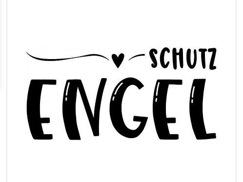 """Holzstempel by Isa """"Schutz Engel"""" modern 4x2cm"""