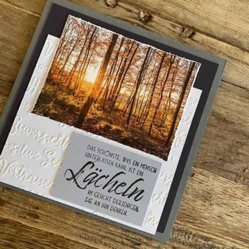 Trauerkarte mit Fotos vo hie! Das schönste, was ein Mensch (Wald)