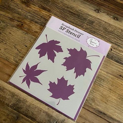 SF Stencil Blätter groß