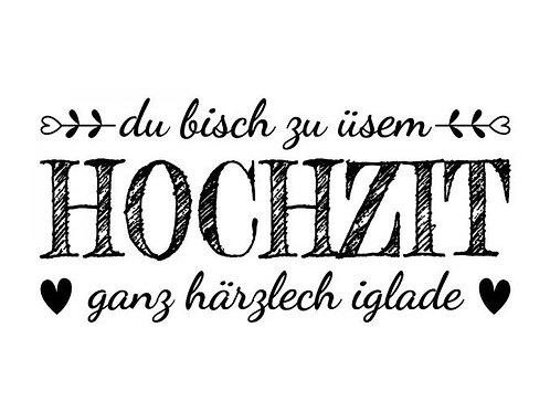 """Holzstempel Design by Susann """"Hochzeit"""""""