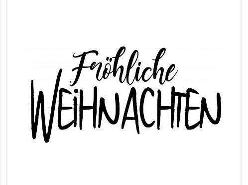 """Holzstempel Design by Susann """" Fröhliche Weihnachten 6x3 cm"""