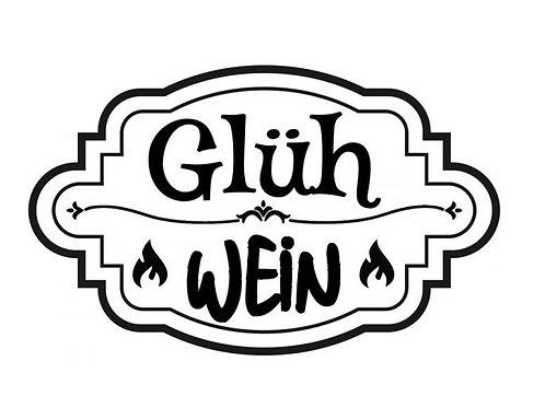 """Holzstempel Design by Susann """"Glüh Wein"""" 6 x 4 cm"""