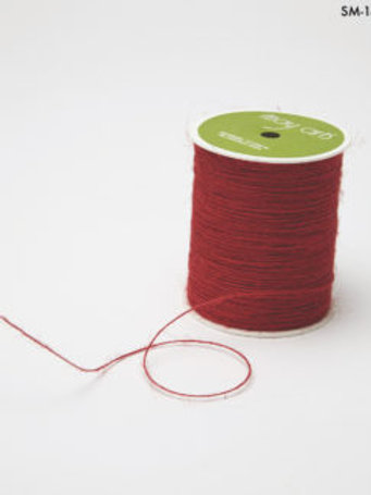 1 Rolle dünnes Juteband Rot (364 Meter)