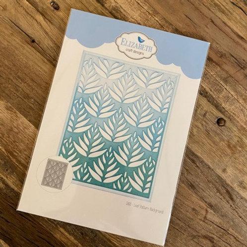 Elizabeth Craft Design Stanzform Leaf Pattern Blackground