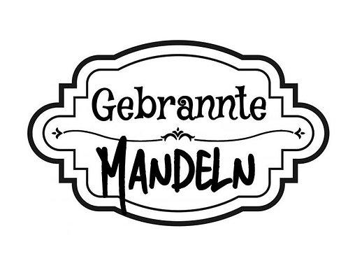 """Holzstempel Design by Susann """"Gebrannte Mandeln"""" 6 x 4 cm"""