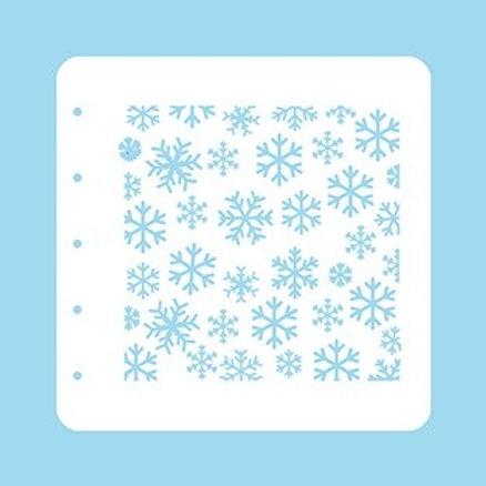 Nellies`s Schablone  A6 Schneeflocken
