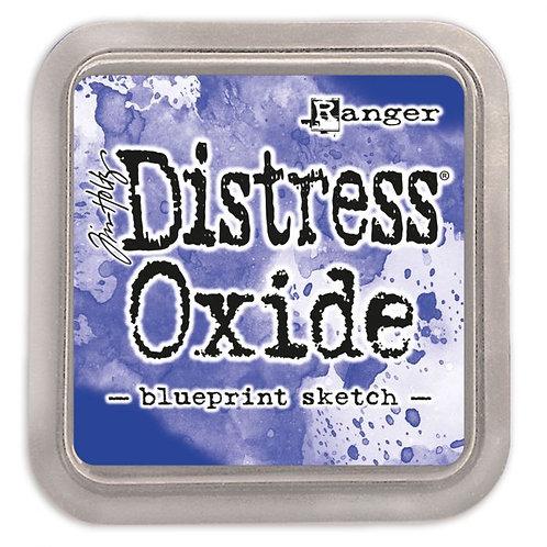 Stempelkissen Distress Oxide blueprint sketch