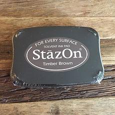 Stempelkissen StazOn Timber Brown, Stempelreiniger, Stempelkissen StazOn Pigment