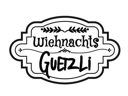 """Holzstempel Design by Susann """"Wiehnachts Guetzli"""" 6 x 4 cm"""