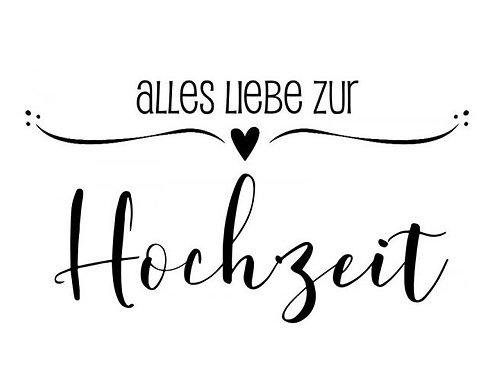 """HolzStempel by Isa """"Alles liebe zur Hochzeit"""" 7 x 4cm"""