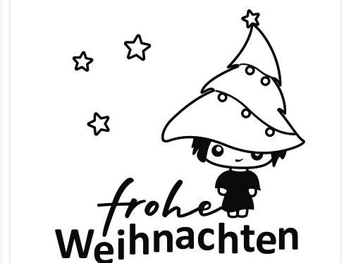 """Holzstempel Design by Marlène """"Frohe Weihnachten""""Wichtel"""