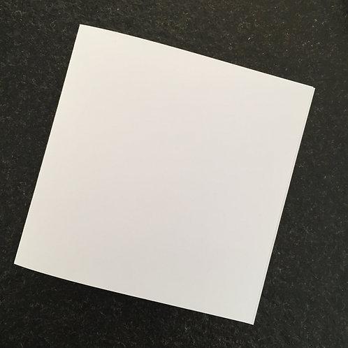 50 Einlageblätter für Karten 13.5x13.5 cm