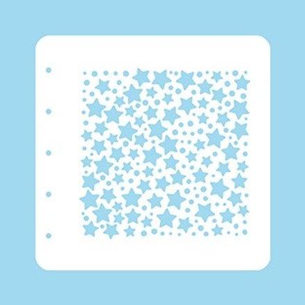 Nellies`s Schablone  A6 Sterne und Punkte
